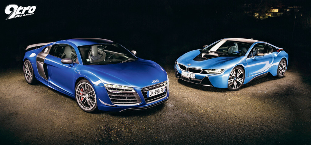 audi r8 lmx vs bmw i8 power struggle. Black Bedroom Furniture Sets. Home Design Ideas